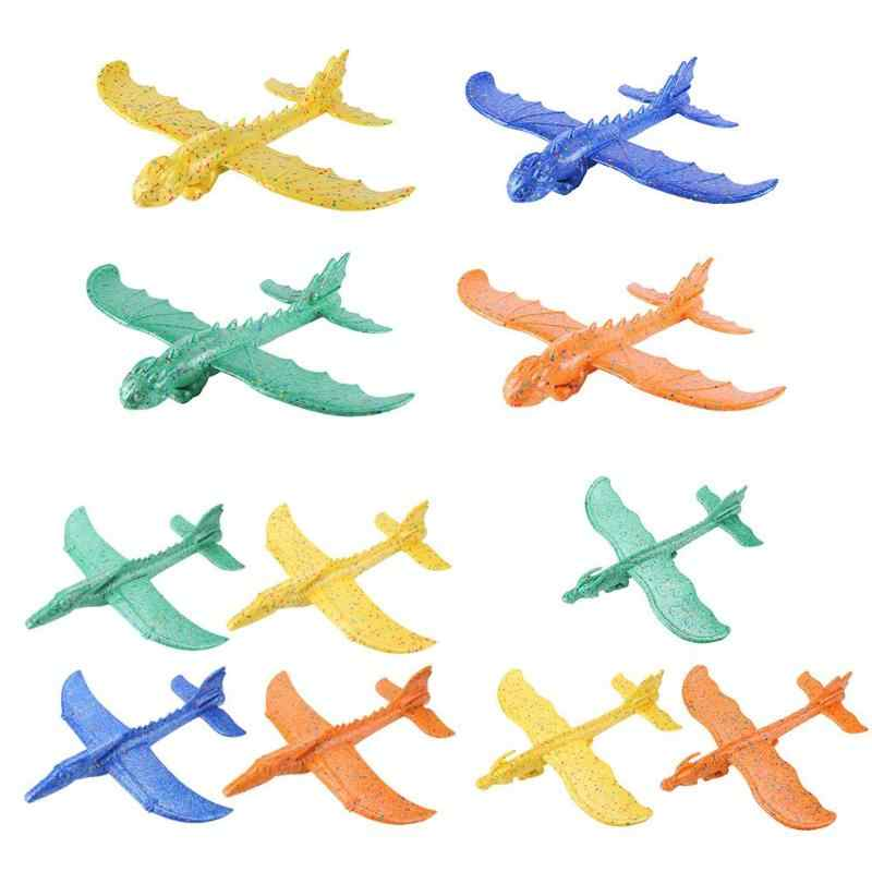 Hand Launch Throwing Glider Aircraft Inertial Foam EPP Airplane Dinosaur Train Dragon Plane Model Outdoor Educational Toys