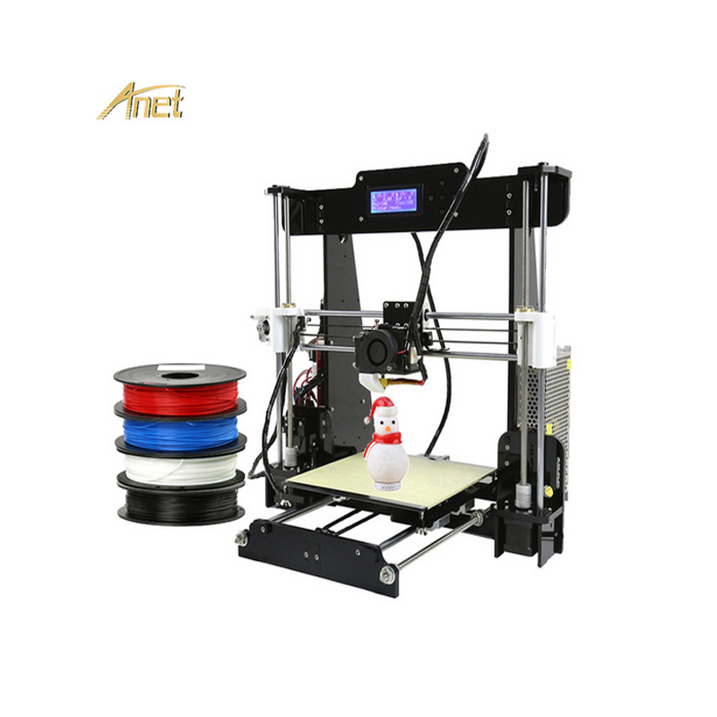 Anet A8 Most Economic 3d Printer Prusa I3 Auto Leveling Arcylic Hotbed DIY 3d Printer Machine Large Printing Size 8GB SD card