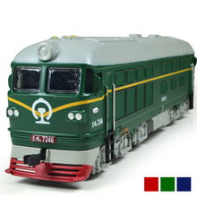 High Simulation 1:87 Alloy Diesel locomotive Internal combustion locomotive Model Toy Acousto optic Train Toys for children