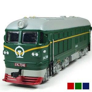 Image 1 - Locomotora diésel de aleación para niños, modelo de locomotora de combustión interna de aleación 1:87, tren óptico acústico, juguetes para niños