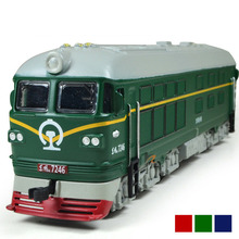 Wysoka symulacja 1: 87 stopu silników diesla spalinowy lokomotywa zabawkowy model akustyczno światłowodowe kolejka zabawkowa dla dzieci