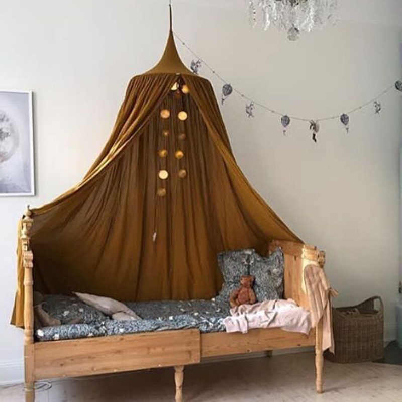 KAMIMI Baby Bed Curtain Children Room Decoration Crib Netting Baby Tent Washed Cotton Cloth Hung Dome Baby Mosquito Net Photog