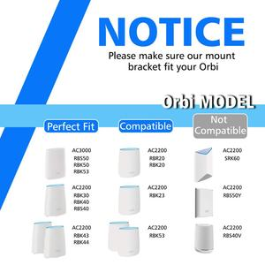 Image 3 - 5 PCS Klar Acryl Wand Halterung Robuste Halterung Für Netgear Orbi WiFi Router Für Orbi RBS40, RBK40, RBS50, RBK50, AC2200, AC3000