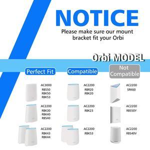 Image 3 - Soporte de pared acrílico transparente para enrutador, Netgear Orbi soporte resistente para, WiFi, para Orbi RBS40, RBK40, RBS50, RBK50, AC2200, AC3000, 3 uds.