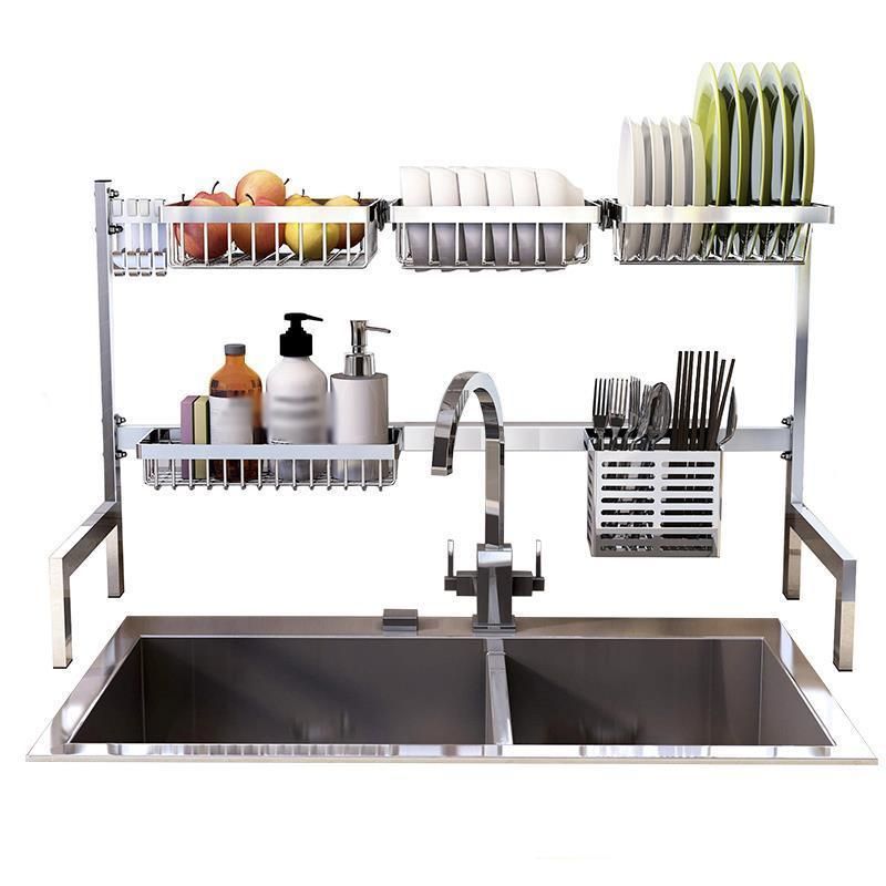Sink Mutfak Almacenaje Especias Scolapiatti Dish Drainer Stainless Steel Organizador Cozinha Cuisine Cocina Kitchen Organizer