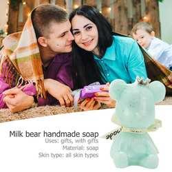 Медведь-образный Отбеливающее мыло ручной работы противогрибковый шампунь для ванной стирка Мыло для лица душистые мыла для подарков