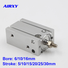 CU/CDU bore 6/10/16mm stroke 5/10/15/20/25/30mm Double Acting cylinder SMC type free mounting air CDU6-5D CDU6-10D