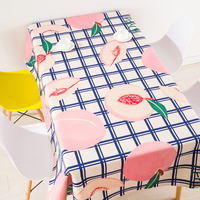 Modern European style coffee table cloth linen tablecloths cover towel thick rectangular antependium decoration fruit peach