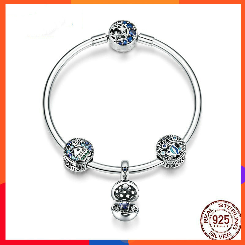 2019 New Bracelet For Women Fashion Charms Silver 925 Original Underwater World S925 Beaded Sterling Silver Jewelry2019 New Bracelet For Women Fashion Charms Silver 925 Original Underwater World S925 Beaded Sterling Silver Jewelry