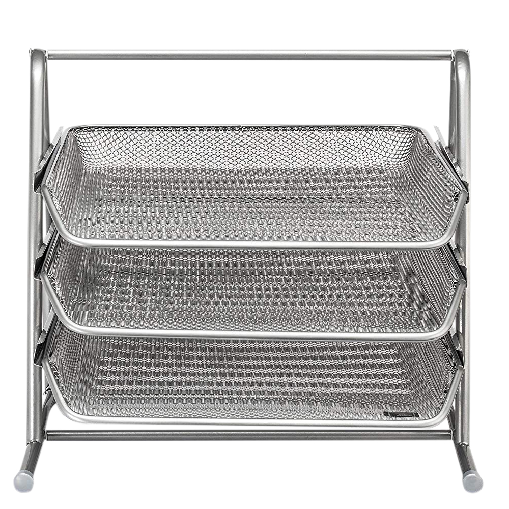 3 Tier Desk Tray Office Organizer | The Mesh Collectio3 Tier Desk Tray Office Organizer | The Mesh Collectio