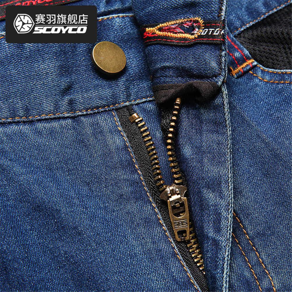 SCOYCO P0431 Moto A Cavallo Dei Pantaloni di Jeans Biker Pantaloni Uomo Riflettente Abbigliamento Moto di Protezione Protector Uomo Che Corre I Vestiti
