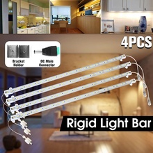 4pcs/lot 5630 LED Strip Light Bar Lights 8W Super Bright Waterproof Hard LED Rigid Strip Bar Light Milky Cover Led Strip DC12V