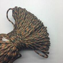 Paracord Bracelets Orange Rope Mix-Color Hiking Green 7-Strand CAMPING Brown Black 10yards/Lot