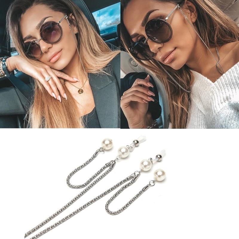 Vinatge Alloy Pearl Glasses Chain Women Sunglasses Chain Only Chain