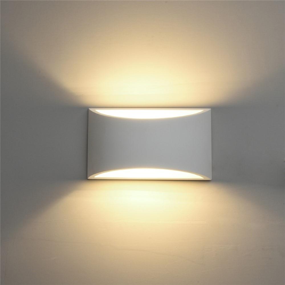 Applique murale moderne LED lampe de gypse 110V 220V applique murale salon chambre escalier fond décorer intérieur applique