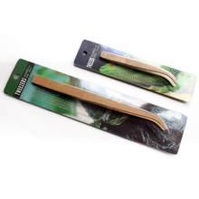Pinzas de madera para reptiles, herramientas de alimentación de alta calidad, herramienta de rana, Araña, arena, terrario, limpieza y alimentación, envío directo