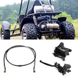 Sistema de Pinça De Freio a Disco hidráulico Traseiro com Almofadas Acessórios Do Carro Universal para Bicicleta Da Sujeira Quad ATV Buggy