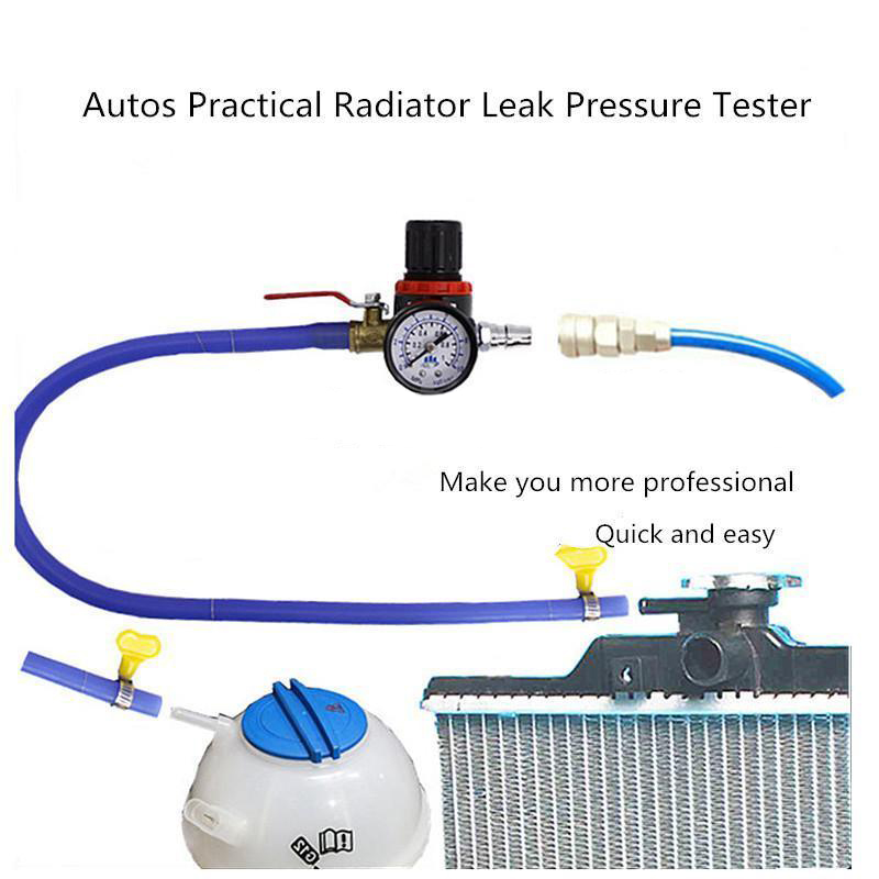 Universal Car Cooling Radiator Pressure Tester Water Tank Detector Checker Tool Checker For Most Cars Leak Pressure Tester
