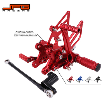 Motorcycle CNC Adjustable Foot Pegs Pedals Rest Rearset Footpegs For HONDA CBR954RR 2002-2003 CBR929RR 2000-2001 Street Bike