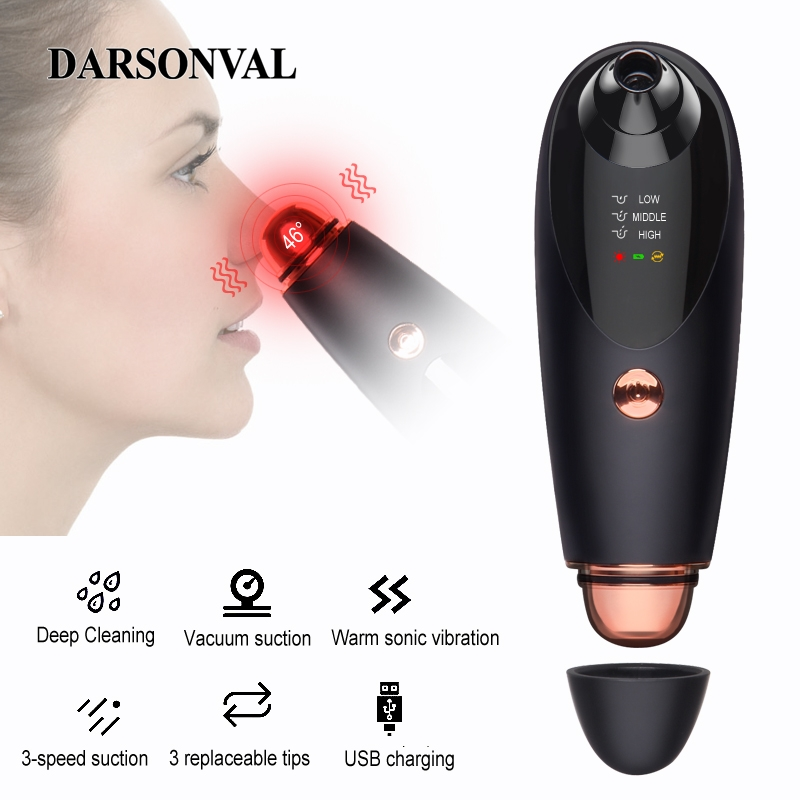 DARSONVAL blackhead remover tools hot for acne pore cleaner face care beauty blackhead vacuum cleaner black