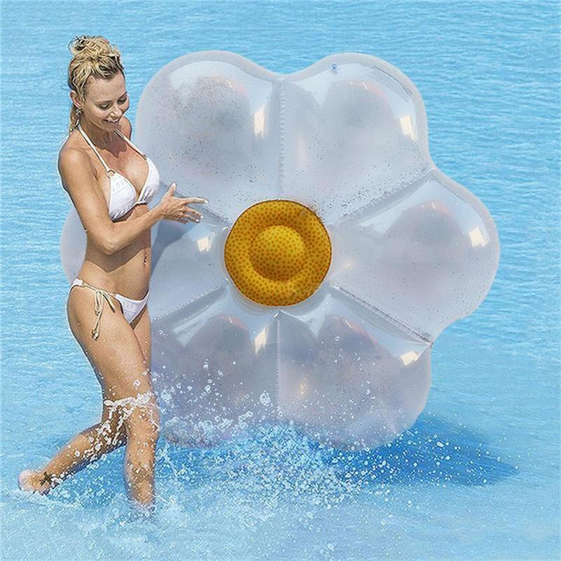 Ambitious 2019 Summer Sequins Flower-shaped Swimming Air Mats Floating Mat Pool Party Toy Leakproof Beach Inflatable Sea Bed Street Price Activity & Gear