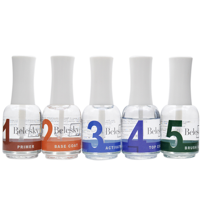 BELESKY Dipping Powder Gel Liquid 15ml Fast Drying Activator Long Lasting Brighter Dipping Top Gel Nail Art Decoration