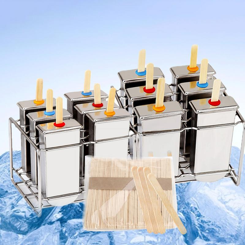 Stainless Steel Ice Popsicle Molds Rack 6 Ice Mold Rack Set Pop Makers