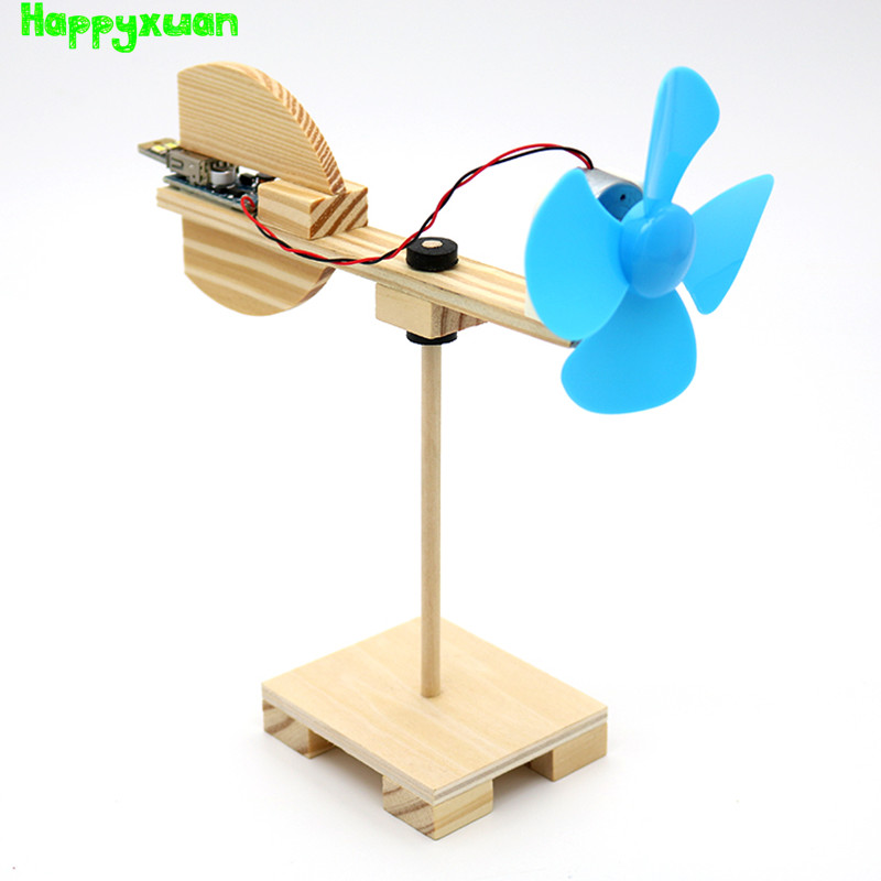 Happyxuan DIY Wind Turbine Model Kits Kid Science Experiments Projects  Creative Montessori Primary School Education Stem Toys
