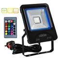 LEDGLE водонепроницаемые 25 Вт светодиодные прожекторы RGB прожекторы с пультом дистанционного управления  COB светодиодный чип  16 видов цветов  4 ...
