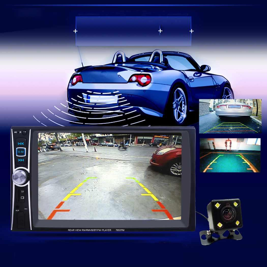 6.6 2 Din Car Radio Auto Car Stereo MP5 Player Touch Screen Car Video Multimedia Player with TF USB FM Bluetooth Camera 7653T6.6 2 Din Car Radio Auto Car Stereo MP5 Player Touch Screen Car Video Multimedia Player with TF USB FM Bluetooth Camera 7653T