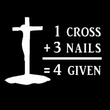 Car Covers Vinyl Decal Cross Nails Forgiven Christian Church Jesus Sticker Truck  Styling Jdm
