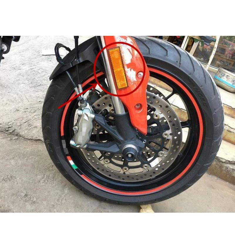 Front Fork Leg Reflector Reflective Sticker For Ducati ATV Bikes Custom Red