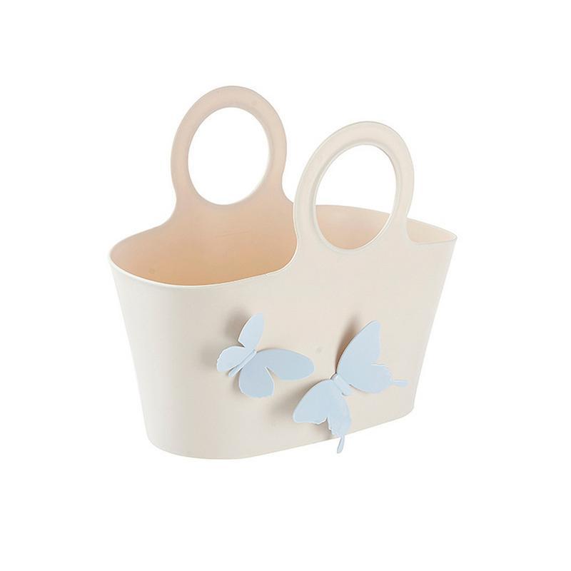 Weiß Bad Hardware Badezimmer Regale Humor Eleg-3 Tier Kunststoff Korb Dusche Caddy Hängen Rack Ordentlich Regal Veranstalter Lagerung