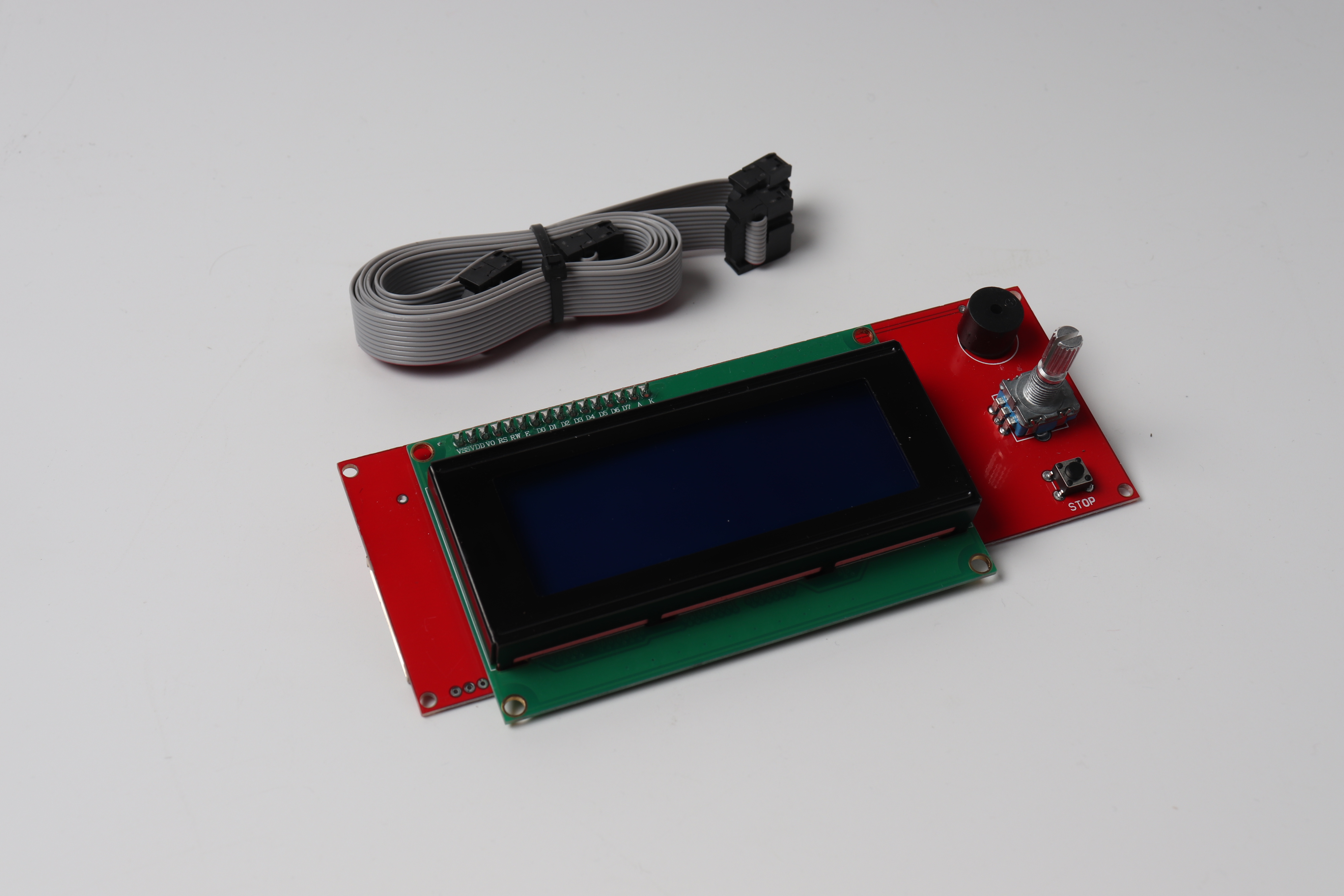 2004 LCD Display 3D Printer Controller With Adapter RAMPS 1.4 Mendel 20 characters x 4 lines For Pru
