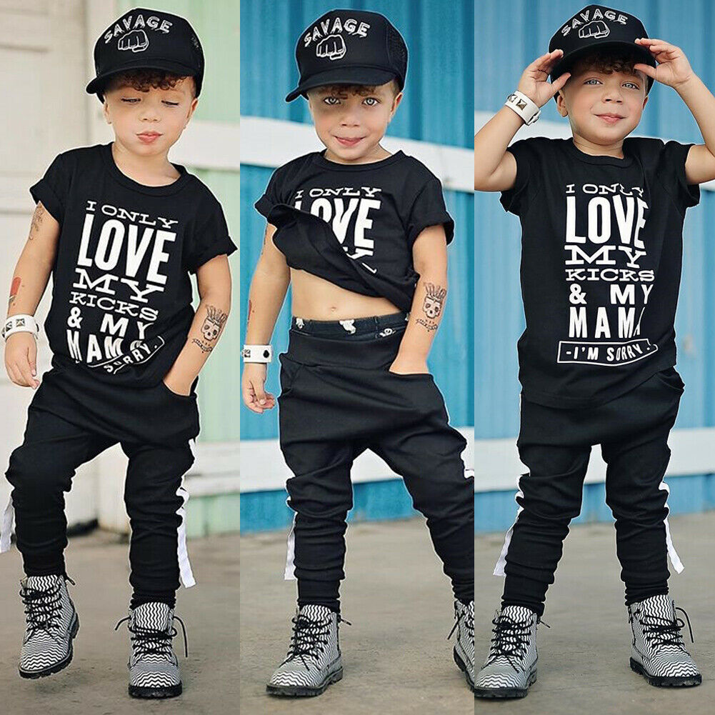 Pudcoco Suit Outfits Pants Legging T-Shirt Baby-Boy Kid Child Summer Tops Cotton 2Y-7Y