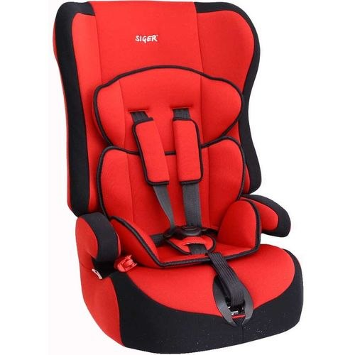 Car Seat SIGER PRIME red, 9-36 kg, c. 1-2-3 (KRES0002) diy reflective crocodile style sticker for car red silver 2 pcs