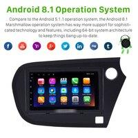 Harfey Car Stereo 7 Auto Radio GPS Navi Android 8.1 for Honda Insight RHD 2009 2016 Multimedia Player HD Bluetooth FM Wifi SWC