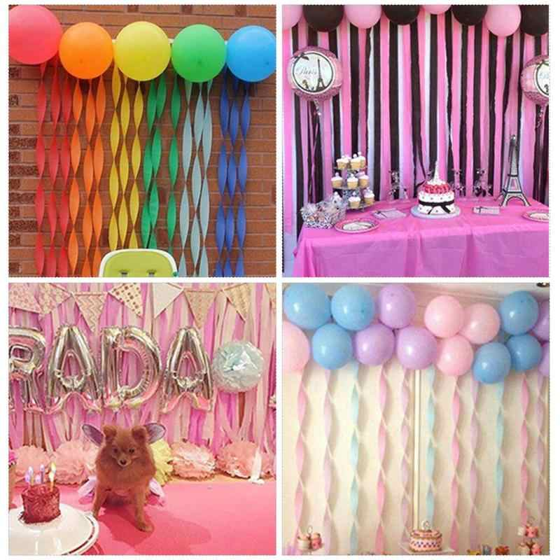 Crepe Paper Streamers For Birthday Party Class Gathering Roll Pull Flower Decor Ribbons Wedding Background Wall