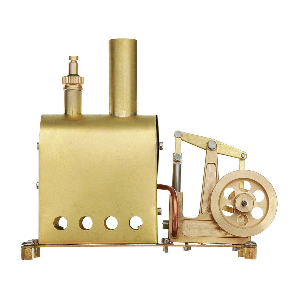 Microcosme Mini chaudière à vapeur locomotive à vapeur Modèle Cadeau Collection bricolage Moteur Stirling Rétro Modèle Matériel Scolaire d'éducation Nouveau
