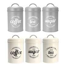 Recipientes para alimentos, recipientes para alimentos, garrafa de armazenamento de açúcar e café, recipientes de cozinha, frascos de boxe 3 pçs/set