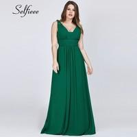 2019 New Summer Beach Dress Elegant A Line V Neck Long Chiffon Plus Size Women Dress Maxi Formal Party Gowns Vestidos De Fiesta