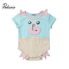 Cute Piggy Baby Boy Girl soft Cotton pajamas Playsuit Romper Jumpsuit for Newborn Infant Children Clothes Kid Clothing(China)