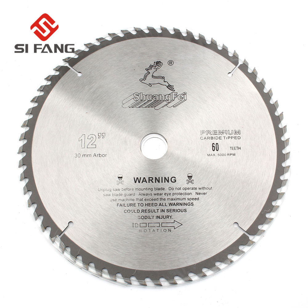 12Inch 40T/60T/80T/100T Carbide Alloy Circular Saw Blades Cutting Wheel Discs For Cutting Wood And Aluminum Metal 30mm Arbor NEW