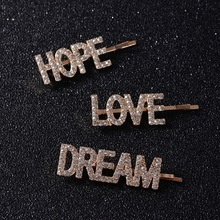 LOVE HOPE DREAM Crystal Hair Clips