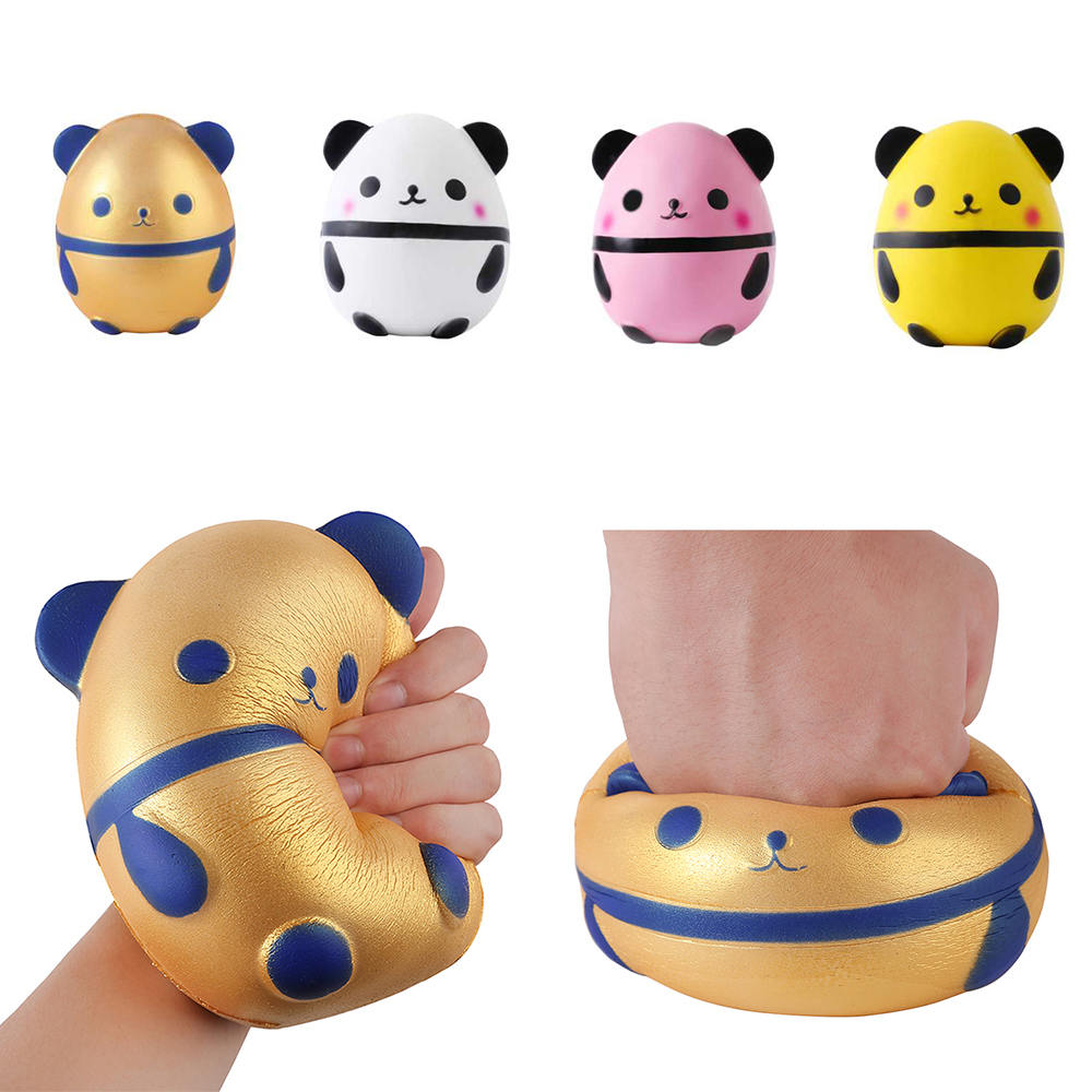 Advertising Jumbo Squishy Kawaii Panda Bear Egg Candy Soft Slow Rising Stretchy Squeeze Kid Toys Relieve Stress Phone Straps Children Gifts Traveling Automobiles