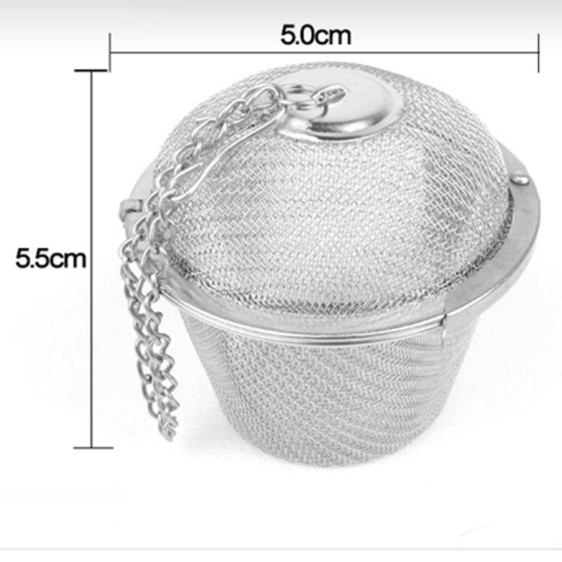 Portable 55mm Stainless Steel Tea Strainer Infuser Tea Locking Ball Tea Spice Mesh Herbal Ball Drinking Cooking Tools