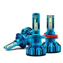 Из 2 предметов 10000LM/комплект 12 В H4 H1 H8 Led H7 6000 К 60 Вт мини Размеры бесшумный вентилятор H3 led 9006 Hb4 9005 Hb3 фары автомобиля лампочки для авто