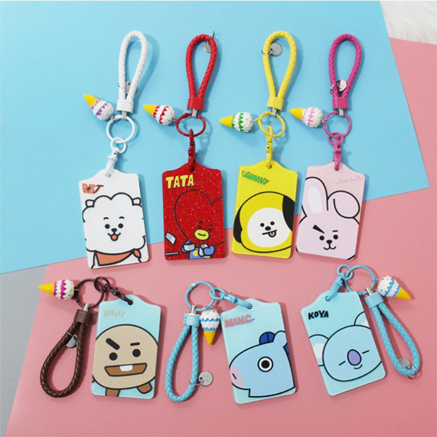 Kpop Pu Card Holder Got7 Cartoon Bus Card Holder Case Cover Office Supplies Students Gifts Business Cards Office & School Supplies