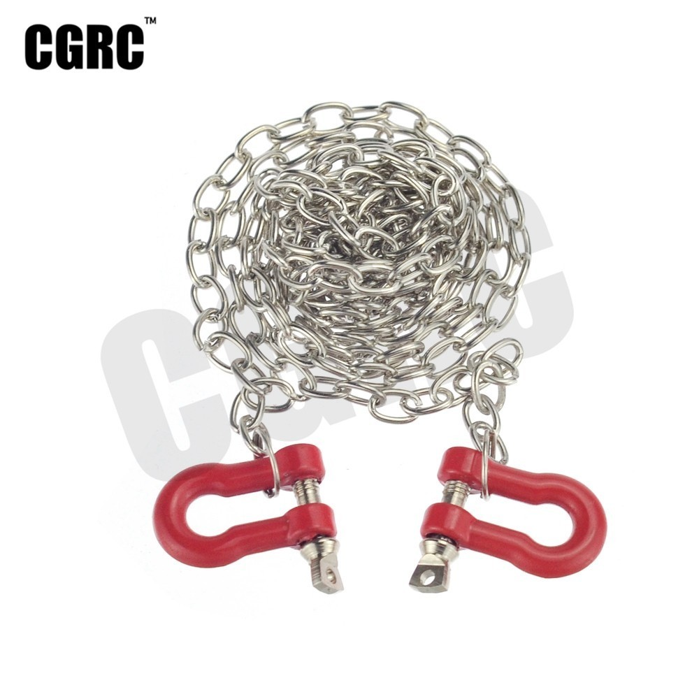 1:10 RC Crawler Accessories Tow Chain w// Trailer Hook for Axial SCX10 D90 CC01