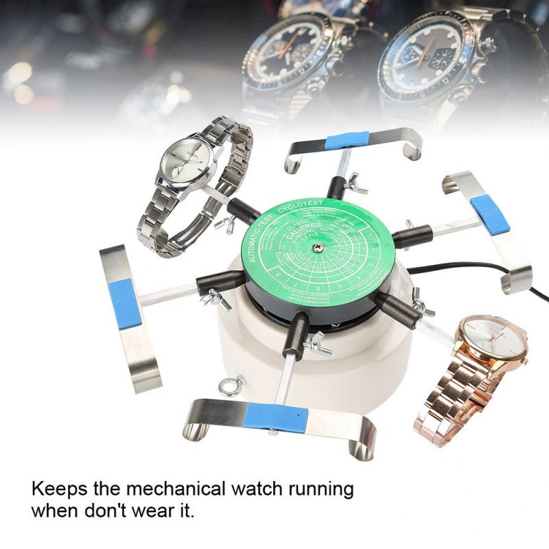 Professional Automic Test Wristwatch Tester Test Machine Mechanical Watch Automatic Watch Winder for six watches at one time-in Repair Tools & Kits from Watches    1